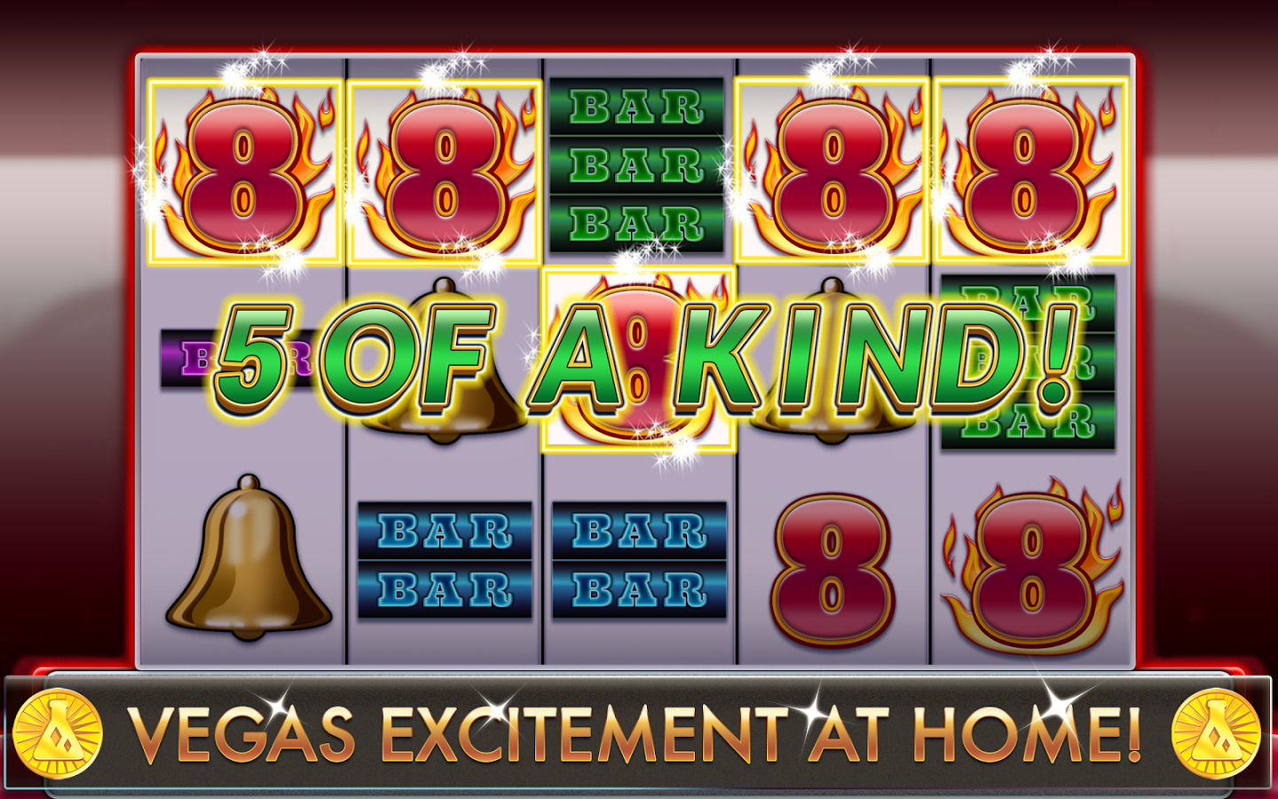 Blazing 888 slots winning 5 of a kind
