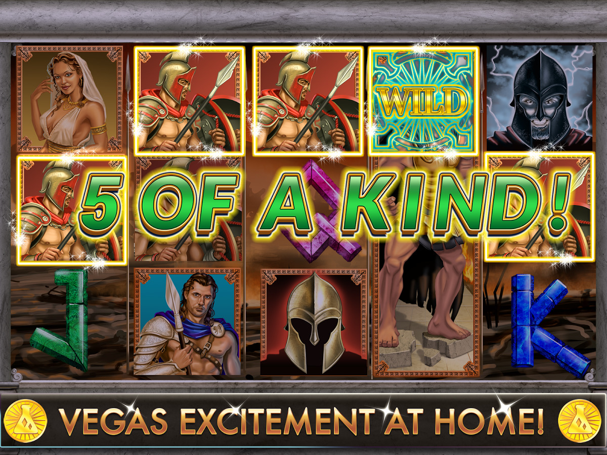 Wrath of Ares slots winning 5 of a kind