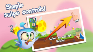 Early Bird And Friends simple swipe controls