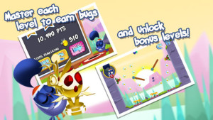 Early Bird And Friends master each level to earn bugs and unlock bonus levels