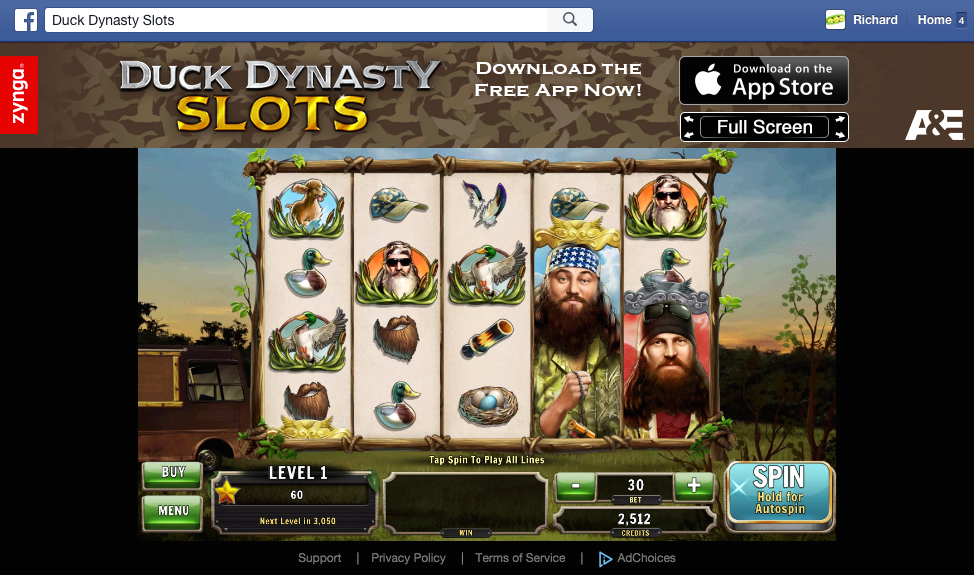 Duck Dynasty slots slot machine