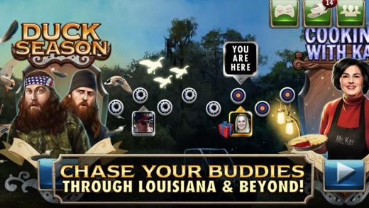 Duck Dynasty slots chase your buddies through Louisiana and beyond