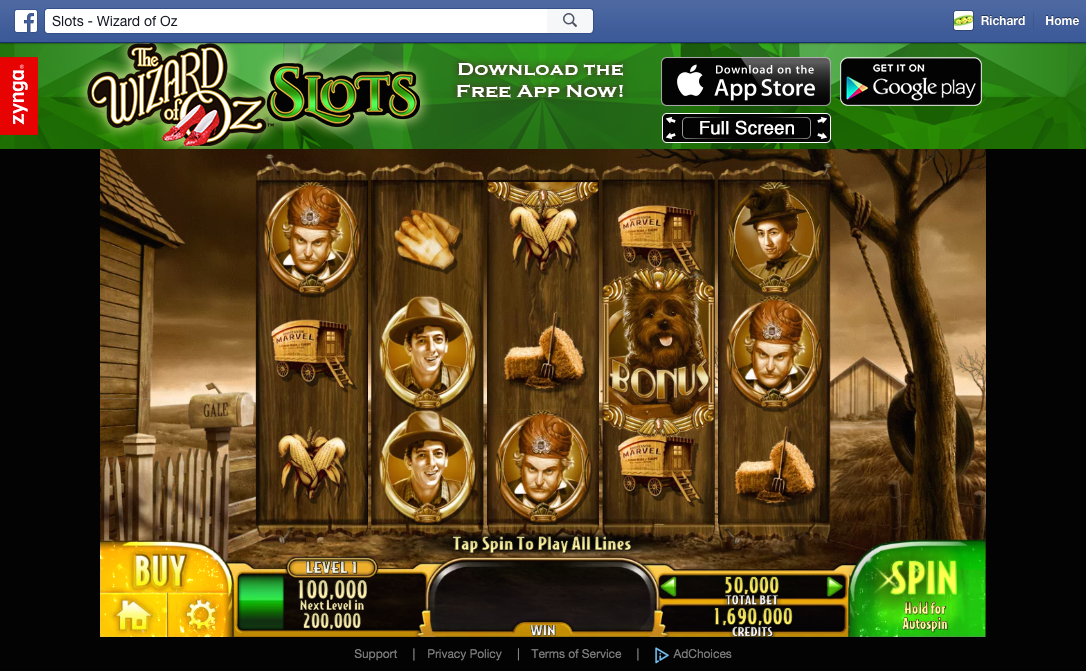 The Wizard of Oz Slots slots machine